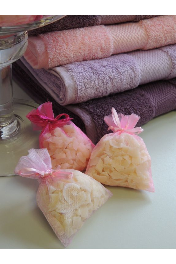 Lot de 3 Sachets organdi ROSE