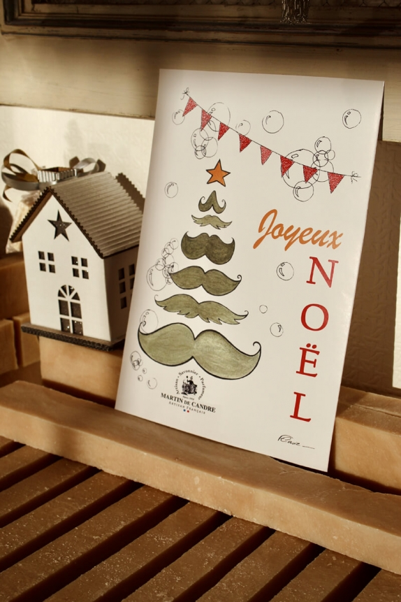 """MdC x Flavie Christmas Poster The Ringlet """"Mustaches fir"""""""